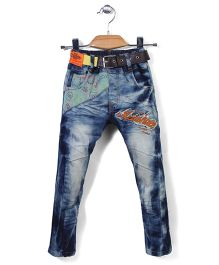 Noddy Original Clothing Denim Jeans With Belt - Blue