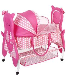 Babyhug Happy Kitty Bassinet - Pink