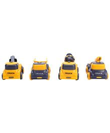 Construction Toy Trucks Set Of 4 - Yellow Gey