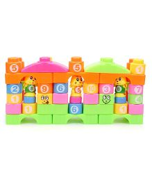 Puzzle Building And Blocks Set Multi Color - 54 Pieces