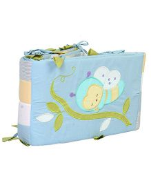 Blooming Buds Honey Bee Full Cot Bumper - Blue