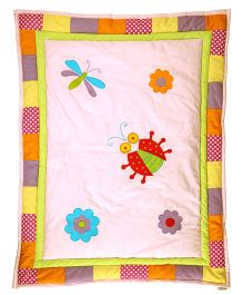 Blooming Buds Garden Accents Baby Quilt - Pink