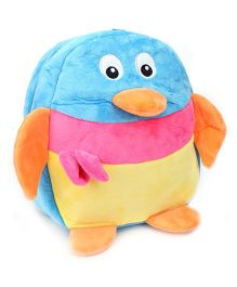 Duck Shaped Soft Toy Bag - Blue And Yellow