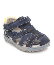 Little Paws Velcro Shoes - Navy Blue