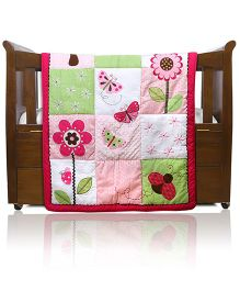 Baby Oodles Baby Comforter Butterfly Theme - Multi Color