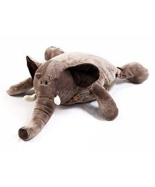 Baby Oodles Elephant Pillow cum Blanket - Brown