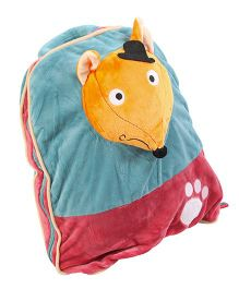 Baby Oodles Embroidred And Mouse Applique Backpack Stuffed With Mink Blanket - Multicolor