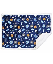 Baby Oodles Polar Fleece Blanket Sports Theme - Multi Color