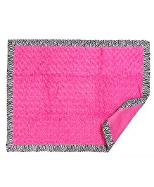 Baby Oodles Plush Rosette Baby Blanket - Pink