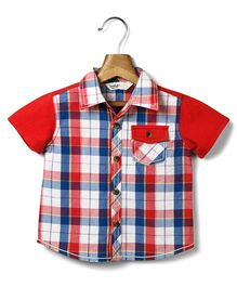 Beebay Half Sleeves Check Shirt - Red