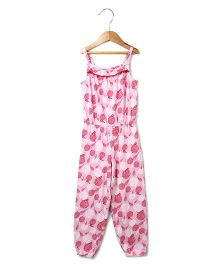 Beebay Singlet Jumpsuit Marigold Print - Pink