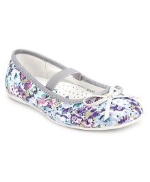 Little Paws Flower Print Sequin Belle - Grey