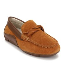 Little Paws Classy Loafers - Brown