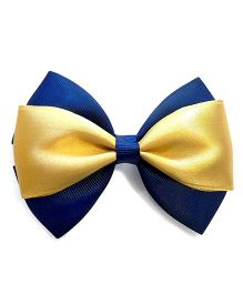 Keira's Pretties Party Bow Hair Clip - Blue & Golden