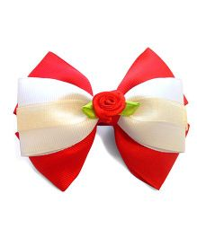 Keira's Pretties Rossette Bow Hair Clip - Red
