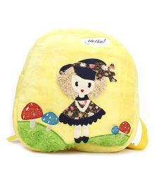 Embroidery Soft Toy Bag Yellow - 11 Inches