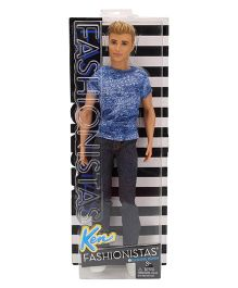 Barbie Fashionista Dashing Denim Doll Blue - 30 cm