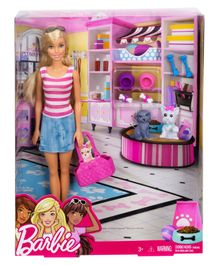 Barbie Doll With Pets - Pink