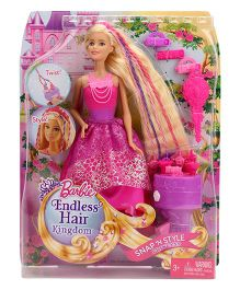 Barbie Endless Hair Kingdom Doll Pink - 29 cm