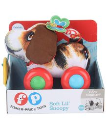 Fisher Price Soft Lil' Snoppy Toy - Brown And White