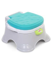 Fisher Price Royal Stepstool Potty - Blue And Grey