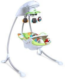 Fisher Price Woodland Friends Cradle And Swing - Green