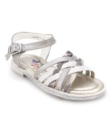 Little Paws Zig Zag Sandals - Silver