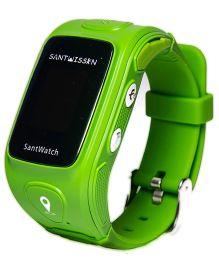 Santwissen Santwatch Kids Wearable GPS Tracker Phone Smartwatch - Green