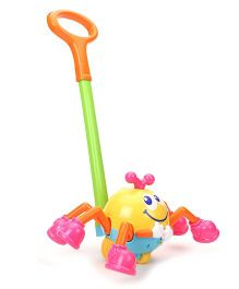 Hamleys Bloomy Push Along Musical Spider - Multicolor
