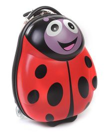 Hamleys Lady Bug Shape Trolley Bag Red - 18 Inches