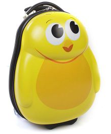 Hamleys Duck Shape Trolley Bag Yellow - 18 Inches