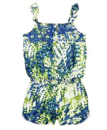 Barbie Singlet Jumpsuit - Blue and Green