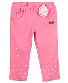 Barbie Capri Hearts Embroidery - Pink