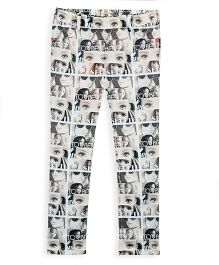 Barbie Photo Print Jeggings - Sepia