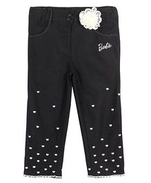 Barbie Capri Hearts Embroidery - Black