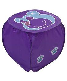 Bear Print Laundry Bag - Purple