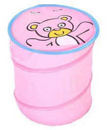 Teddy Print Storage Bag - Pink