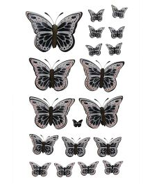 Happykids 3D Stickers Butterflies - Grey And Black