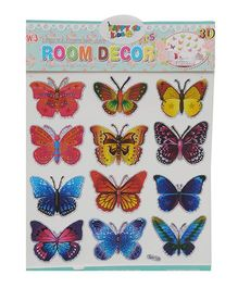 Happykids 3D Stickers Butterflies Multo Color - Set of 12
