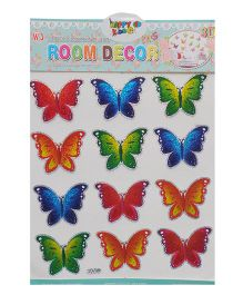 Happykids 3D Stickers Butterflies Set of 12 - Multi Color