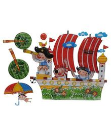 Happykids 3D Wall Stickers - Ship