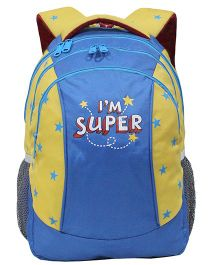 Star Gear Super Backpack Blue And Yellow - 14 Inches