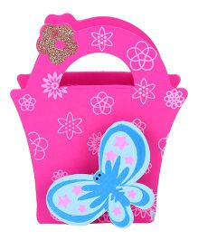 Wooden Pen Stand Butterfly Design - Pink