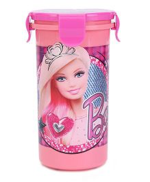 Barbie Tumbler With Clip on Lid 400 ml (Color May Vary)