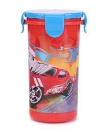 Hotwheels Tumbler With Clip On Lid Red & Blue - 400 ml