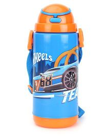 Hotwheels Insulated Water Bottle Blue And Orange- 480 ml
