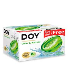 Doy Clear & Natural Glycerin Transparent Soap 125 gm - Pack Of 3