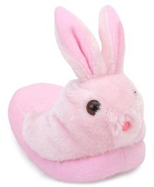 IR Fur Flip Flops Rabbit Design - Pink