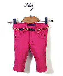 Vitamins Full Length Pants With Belt - Pink