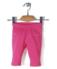 Vitamins Jeggings Heart Design - Pink